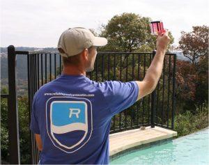 Pool Technician Testing Chlorine Levels